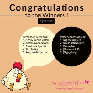 Japan Softlens Pengumuman Pemenang jpsimlek